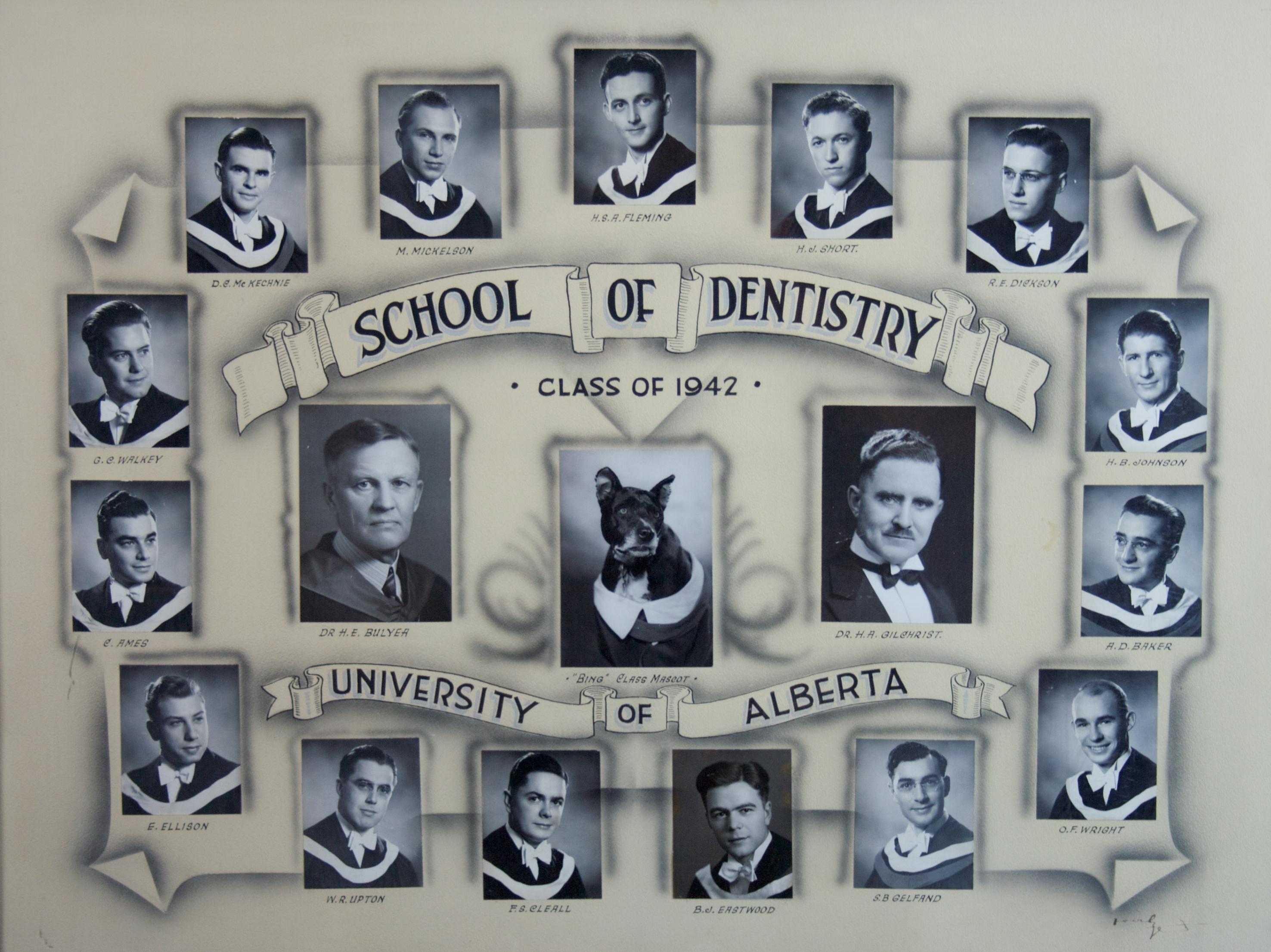 School of Dentistry Class of 1942