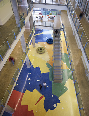 The nearly 40,000 sq. ft. terrazzo floor for the Faculty of Science Centennial Centre for Interdisciplinary Science