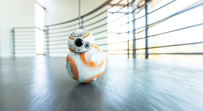 BB-8 from Star Wars: The Force Awakens. (© & ™ Lucasfilm Ltd.)
