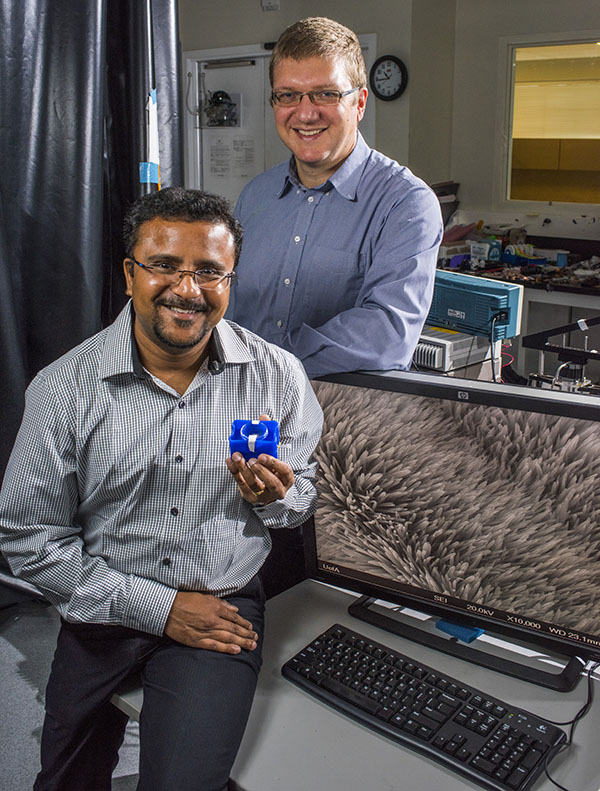 Scientists have created a resonator with nanoscale features to detect dangerous chemicals in the environment.