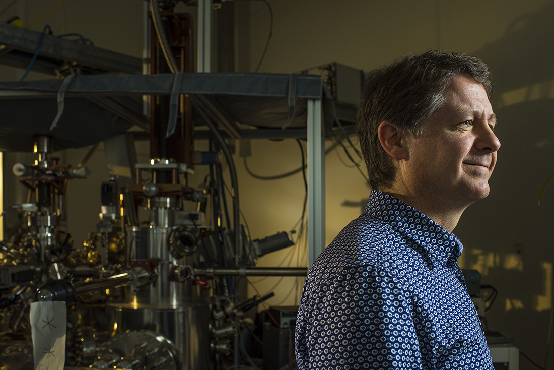 Robert Wolkow, professor of physics at the University of Alberta stands in his lab.