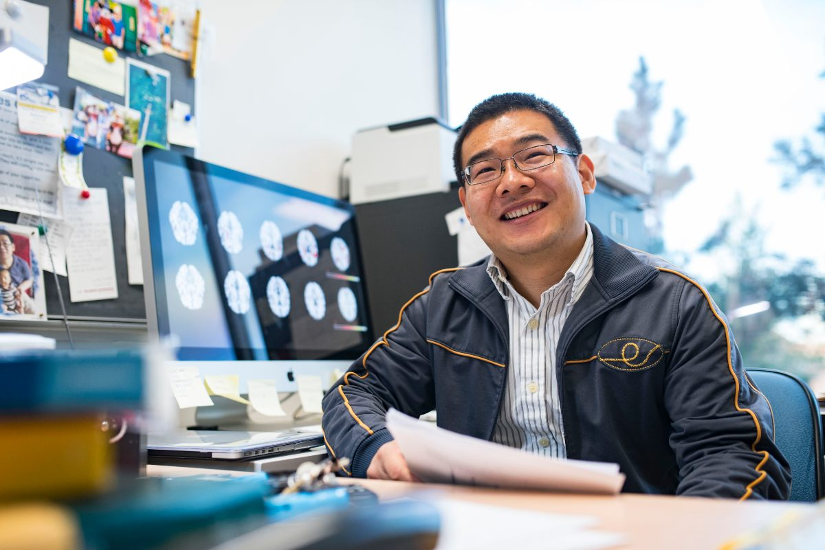Researcher Linglong Kong, pictured on the UAlberta campus.