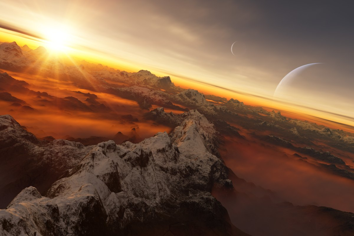 The NameExoWorlds global competition allowed any country in the world to give a popular name to a selected exoplanet and its host star—one of which is depicted here in an artist's rendering.