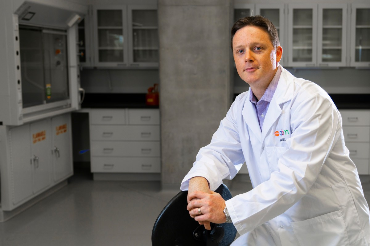 Biophysicist Daniel Charlebois, pictured here in his lab at the University of Alberta.