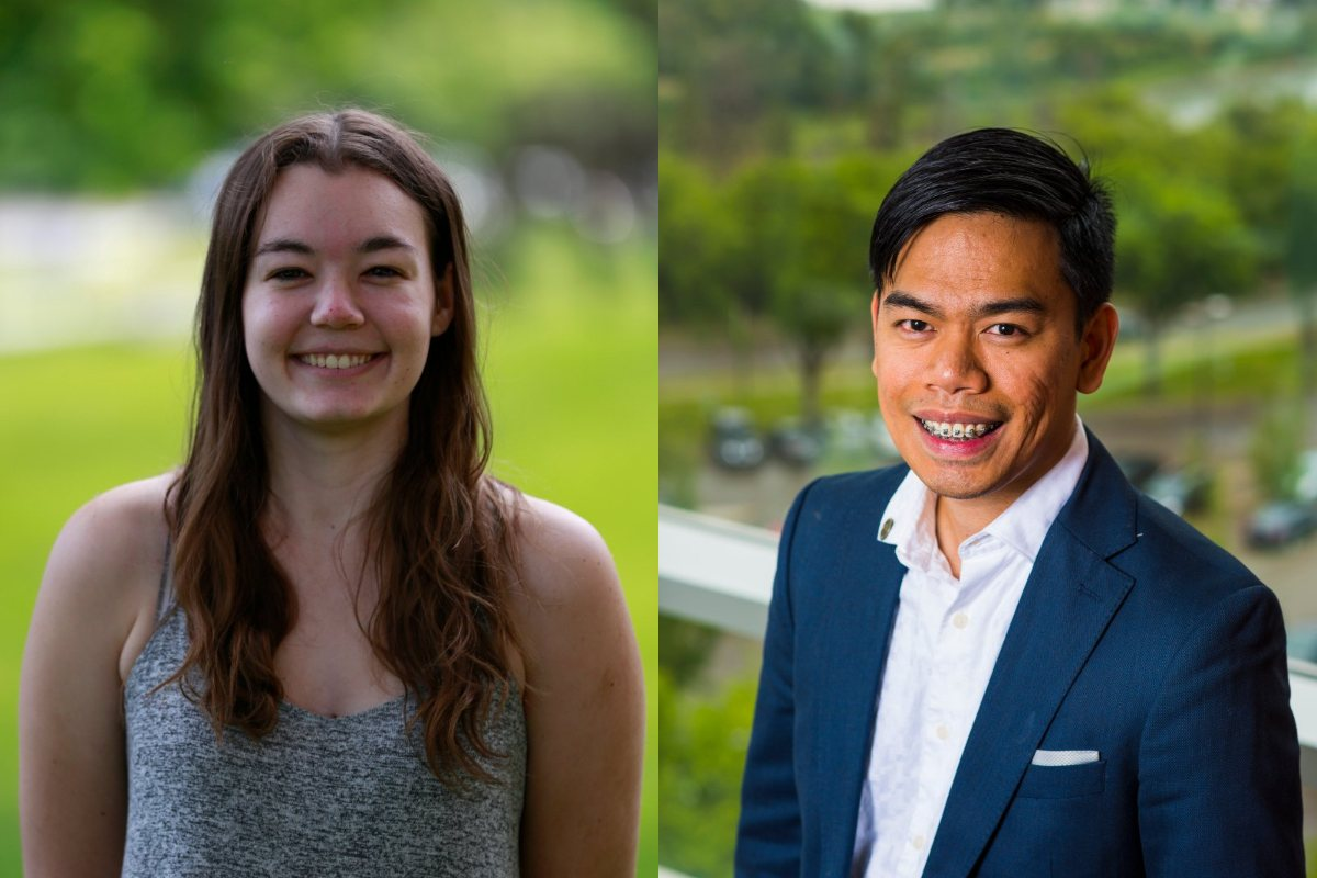 Albert Remus Rosana and Cassandra Wilkinson received $50,000 over the next two years to support their studies.