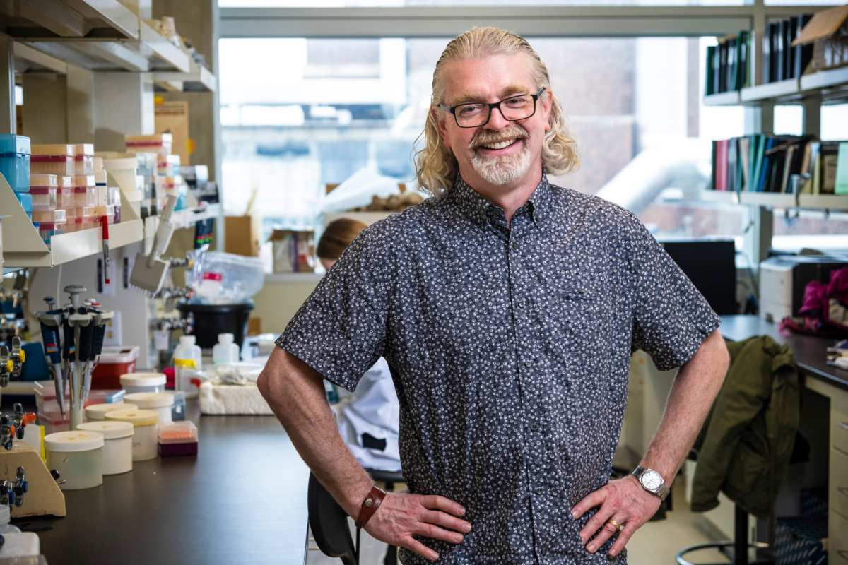 Chair of the Department of Biological Sciences David Coltman.
