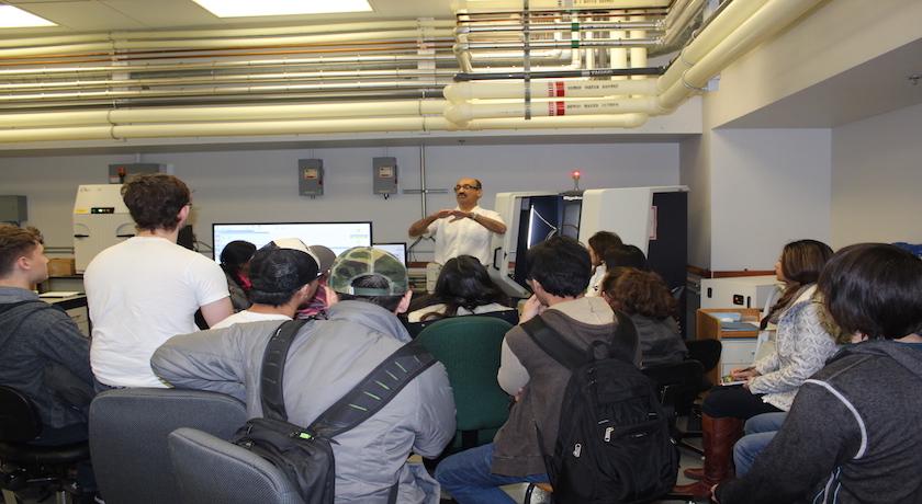 ATUMS students at XRD Training at NanoFAB