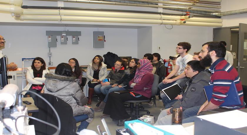 ATUMS Students XRD Training at NanoFAB