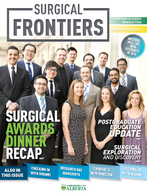 Surgical Frontiers Q3 Department of Surgery U of A