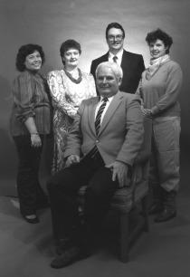 Dr. Michael Rodda and the first Centre staff